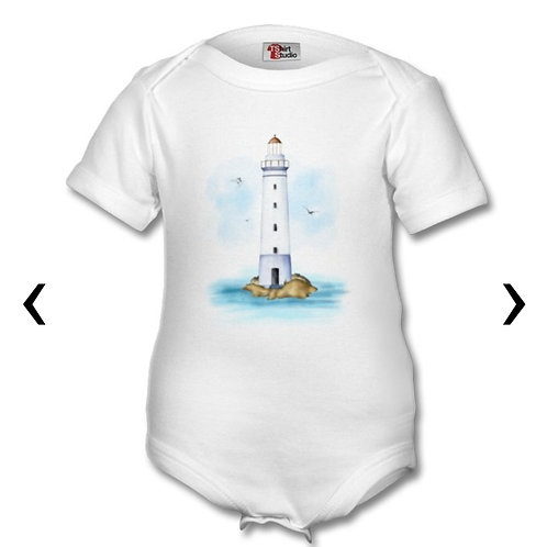 Lighthouse Themed Personalised Baby Grows