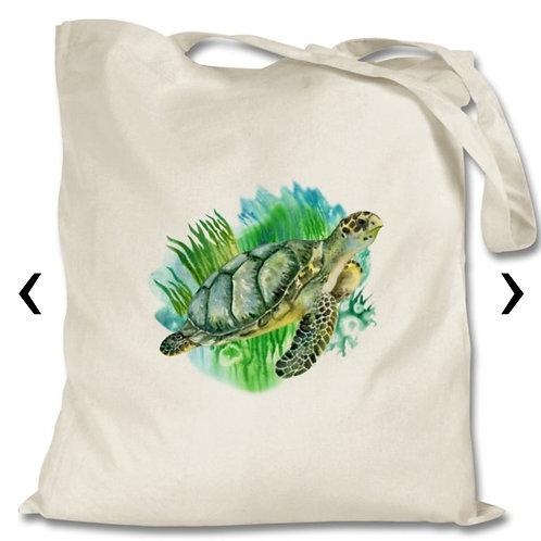 Sea Turtle Themed Personalised Tote Bag