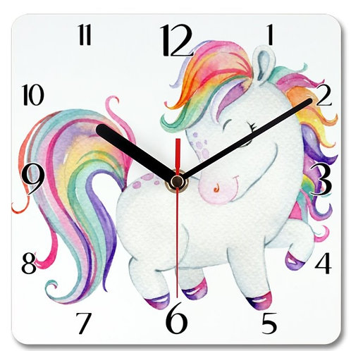 Pony_6 Themed Personalised Square Clock