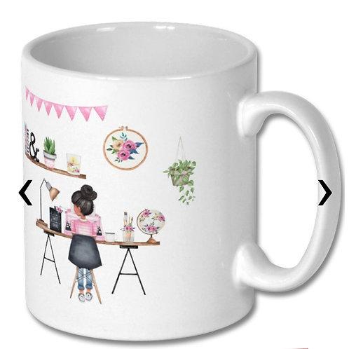 Office Girl_1 Themed Personalised Mug
