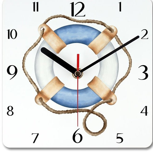 Lifebuoy Ring Themed Personalised Square Clock