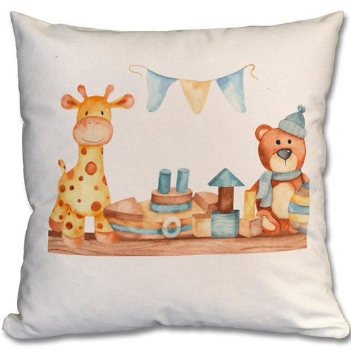 Wooden Toys_6 Themed Personalised Cushions