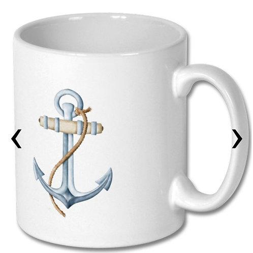 Anchor Themed Personalised Mug
