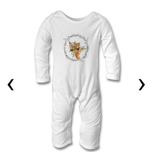 Horses Themed Personalised Baby Bodysuit