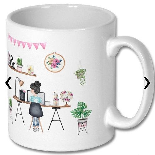 Office Girl Themed Personalised Mug