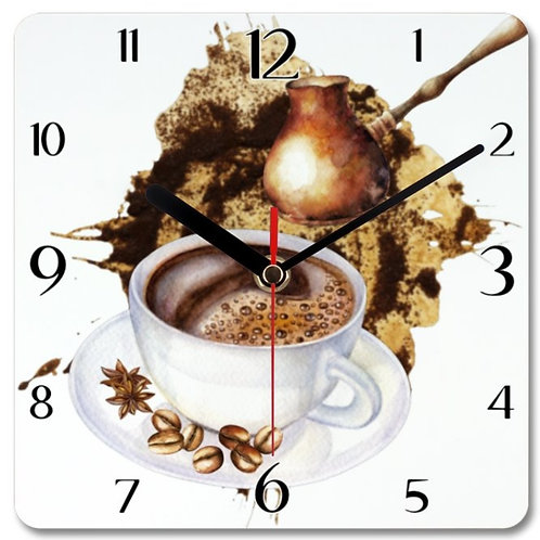 Coffee_2 Themed Personalised Square Clock