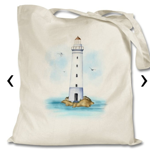 Lighthouse Themed Personalised Tote Bag