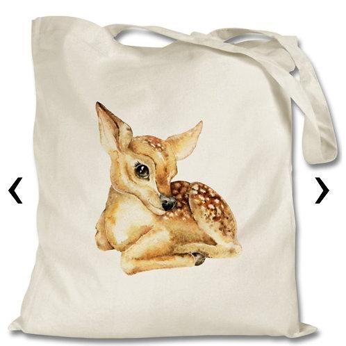 Deer Themed Personalised Tote Bag