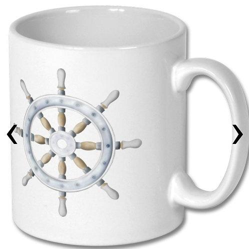 Sailboat Steering Wheel Themed Personalised Mug
