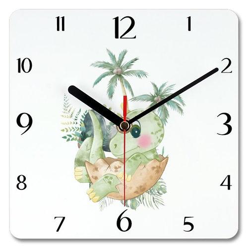 Dinosaur_5 Themed Personalised Square Clock