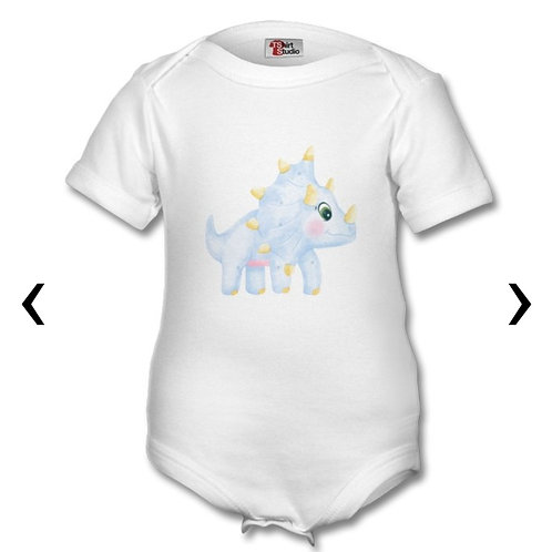Dinosaur_8 Themed Personalised Baby Grows