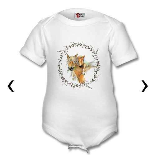 Horses Themed Personalised Baby Grows