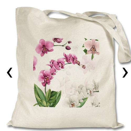 Orchids_3 Themed Personalised Tote Bag