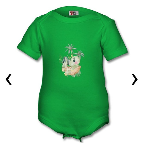 Dinosaur_5 Themed Personalised Baby Grows