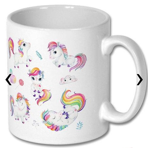 Ponies Themed Personalised Mug