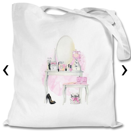 Beauty Themed Personalised Tote Bag