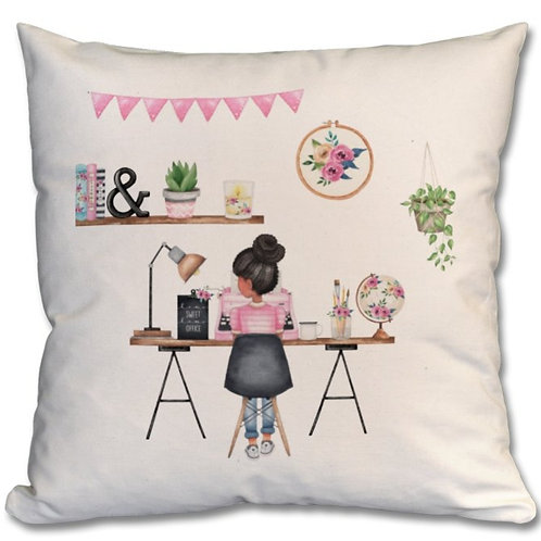 Office Girl_1 Themed Personalised Cushions