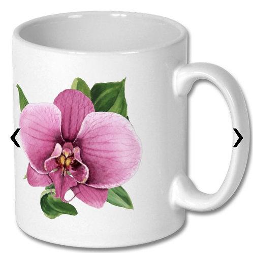 Orchid Themed Personalised Mug