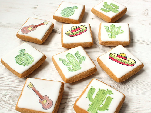 Gluten-free Cactus themed Gingerbread Biscuits