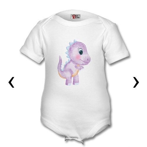 copy of Dinosaur_8 Themed Personalised Baby Grows