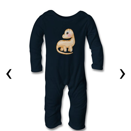 Dinosaur Themed Personalised Baby Bodysuit