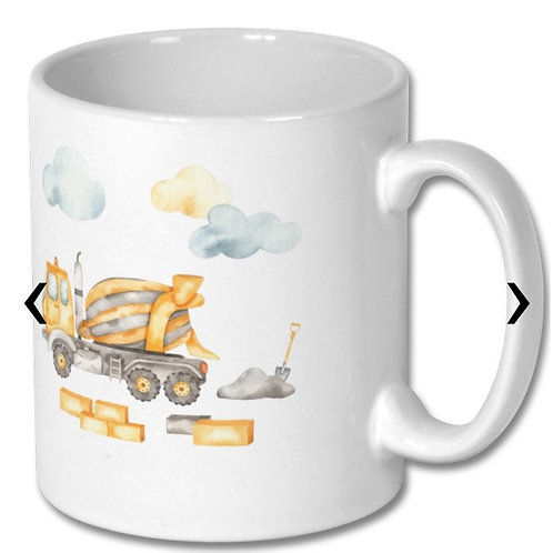 Cement Mixer Themed Personalised Mug
