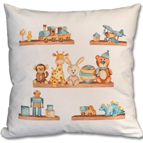 Wooden Toys_8 Themed Personalised Cushions