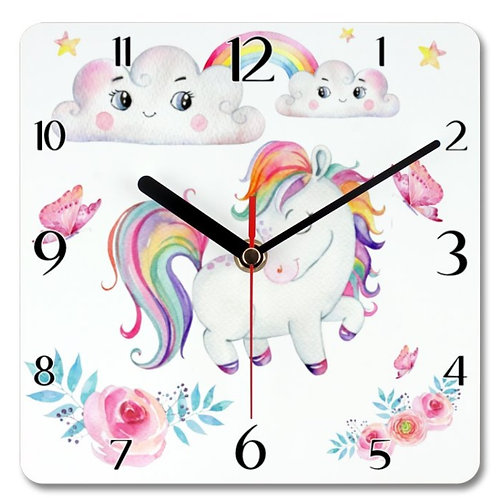 Pony_4 Themed Personalised Square Clock