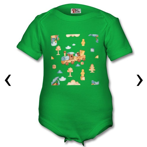 Wooden Toys_18 Themed Personalised Baby Grows