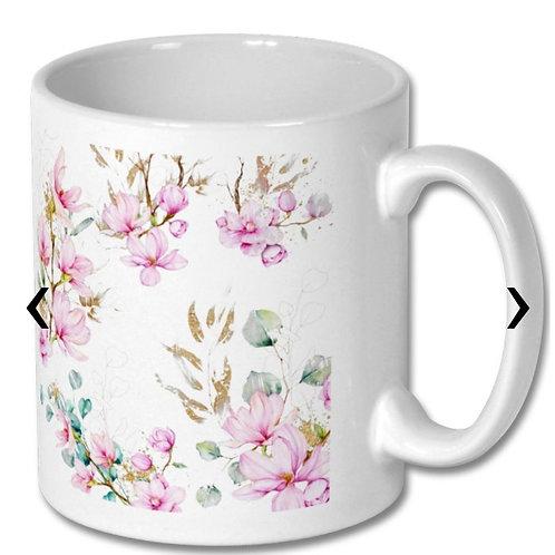 Magnolia Themed Personalised Mug