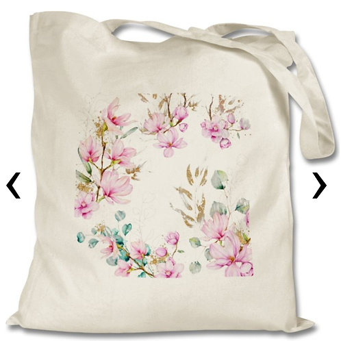 Magnolia Themed Personalised Tote Bag