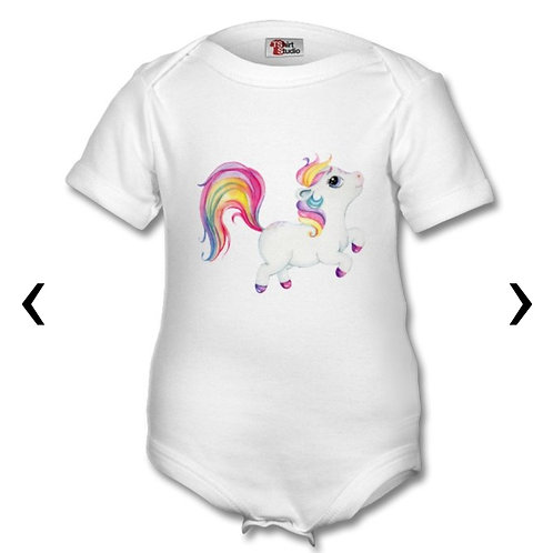 Pony_9 Themed Personalised Baby Grows
