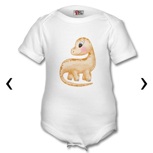 Dinosaur Themed Personalised Baby Grows