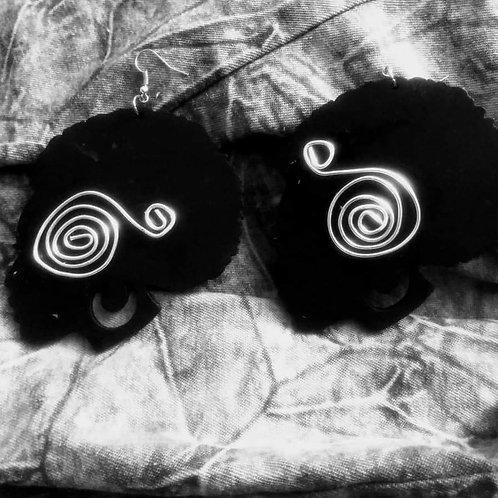 Black Magic Swan Earrings