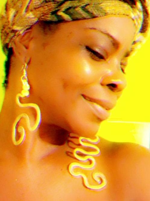 Yellow Abstract Earrings
