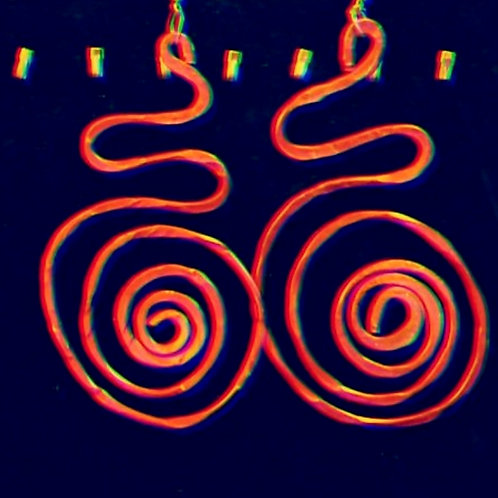 Special Swirls Orange Earrings