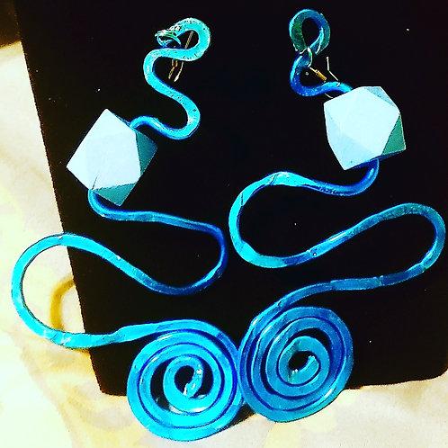 Crazy Royal Blue Earrings