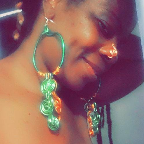 Teal Tear Drop Earrings