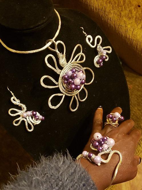Big Flower Necklace Set