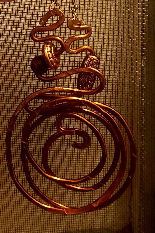 Bronze Swirl Snake top Earrings