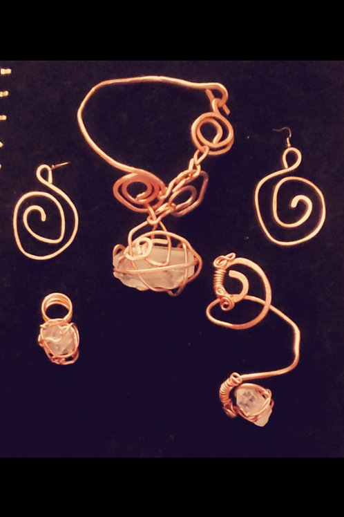 Copper & Quartz Set