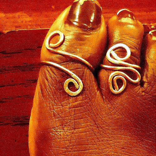 Copper Toe Rings