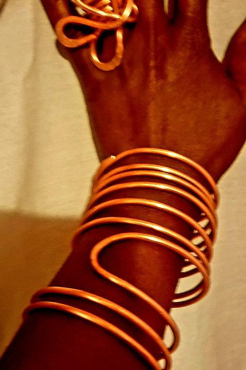 Copper Spiral Set