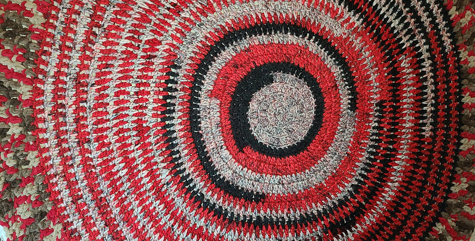 Red Roses Circle of Love Blanket
