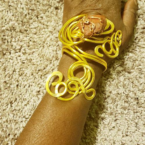 Yellow Branch Bracelet Set