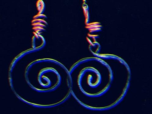 Blue Question Mark Earrings
