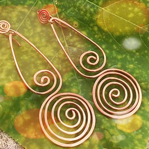 Perfect Copper Swirl Earrings