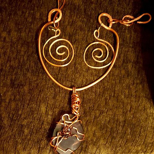 Crystal Coker & Earring Set
