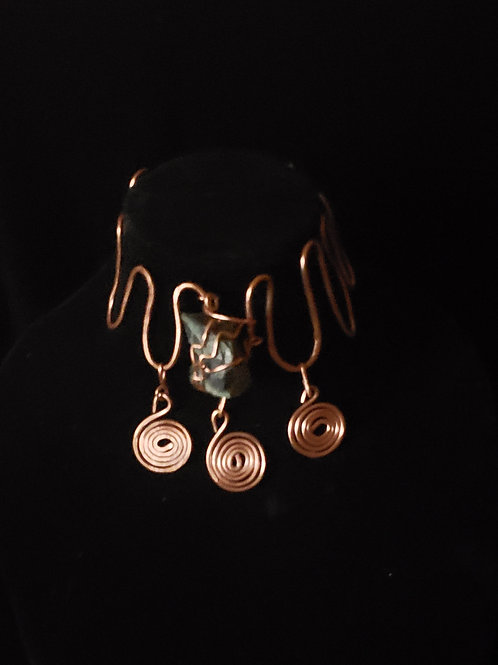 Copper Crown Choker with Stone