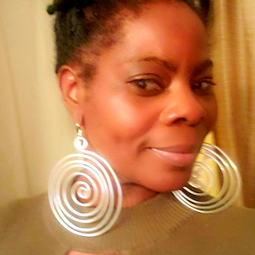 Silver Perfect Swirl Earrings